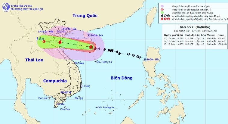 Quỹ đạo bão số 7 diễn biến khó lường do tương tác với không khí lạnh - 1