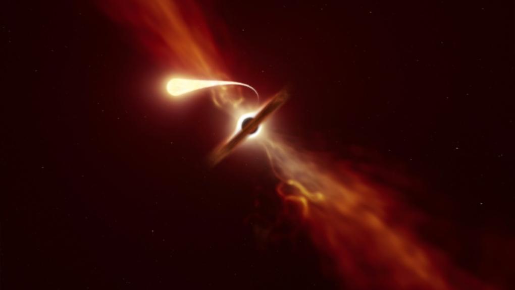 Video: Hiếm thấy khoảnh khắc hố đen khổng lồ nuốt chửng ngôi sao nặng như Mặt trời - 1