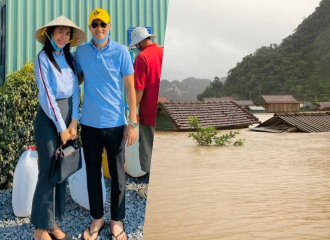 Thủy Tiên, vợ chồng Quốc Nghiệp kêu gọi ủng hộ người dân miền Trung - 1