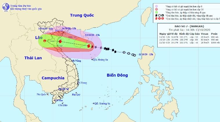 Bão số 7 suy yếu, Bắc Bộ và Bắc Trung Bộ nhiều nơi đang mưa to - 1
