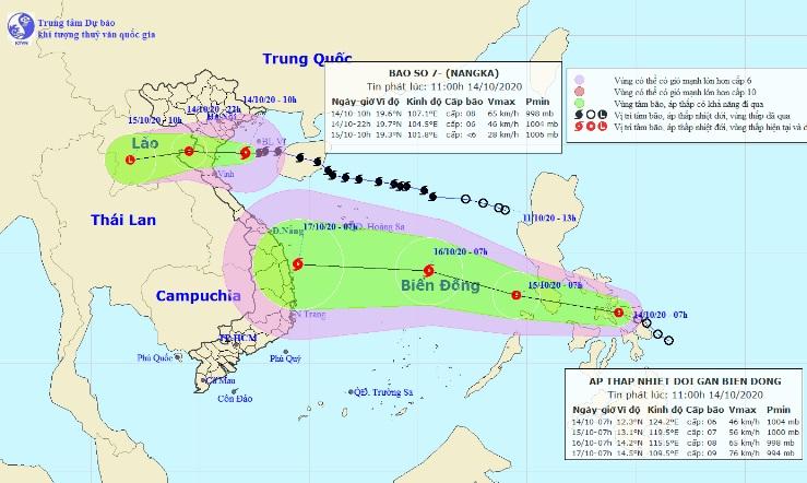 Bão số 7 đang quần thảo trên vùng biển các tỉnh từ Thái Bình đến Nghệ An - 1