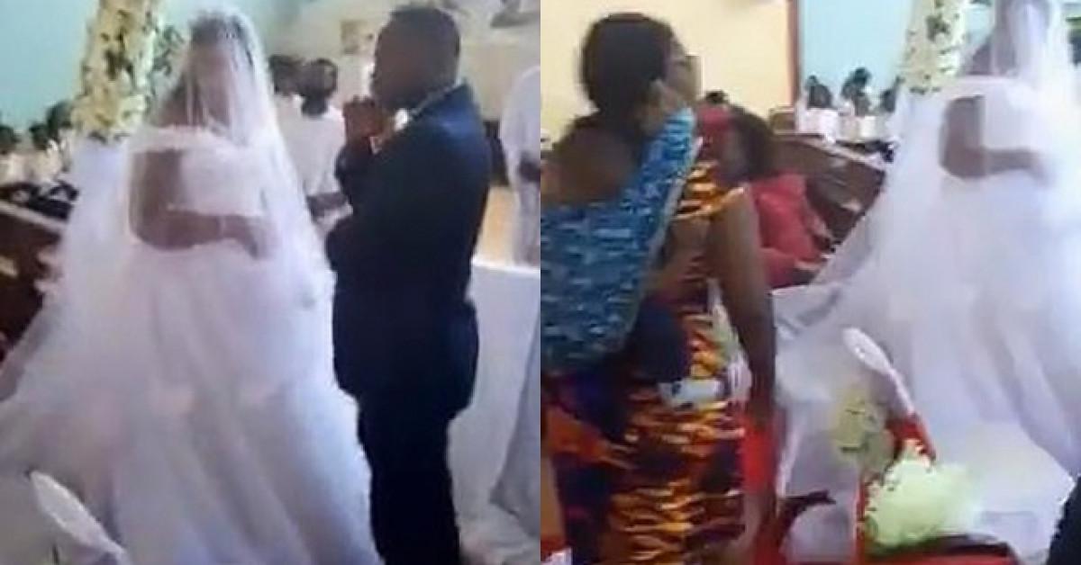 Người phụ nữ địu con xông vào đám cưới nói chú rể là chồng mình, cô dâu phản ứng lạ - 1
