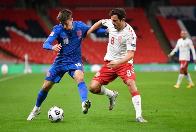 Video highlight trận Anh - Đan Mạch: Maguire thẻ đỏ, thất bại đắng cay - 1