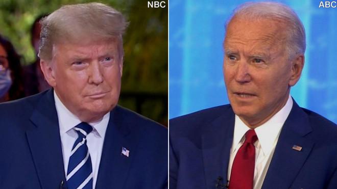 """Tổng thống Trump """"toát mồ hôi"""" trong phiên hỏi - đáp với cử tri - 1"""
