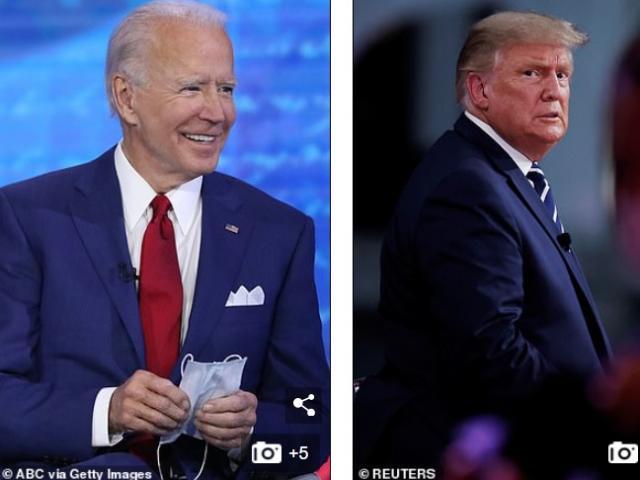 Ông Biden đánh bại ông Trump về lượng người xem hỏi đáp riêng trên truyền hình