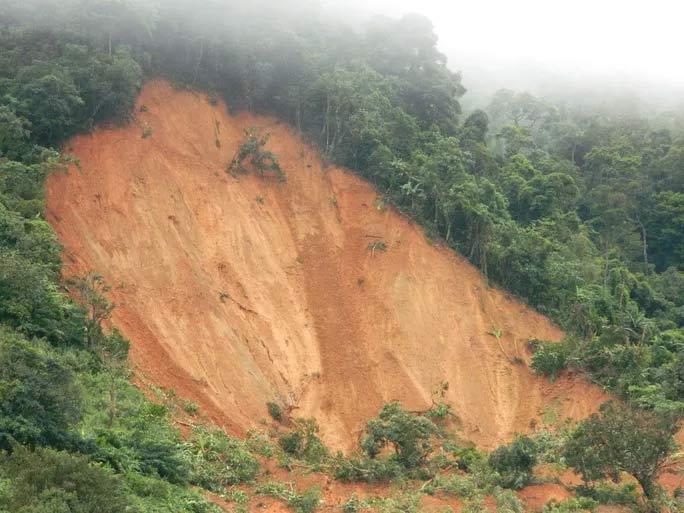 CLIP: Hiện trường và nhân chứng kể về vụ sạt lở núi khiến 20 cán bộ, chiến sĩ sư đoàn 337 nghi bị vùi lấp - 1