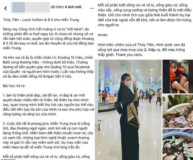 """Mỉa mai Thủy Tiên """"mặc đồ hiệu đi làm từ thiện"""", nữ MC bị dân mạng phản ứng dữ dội - 1"""
