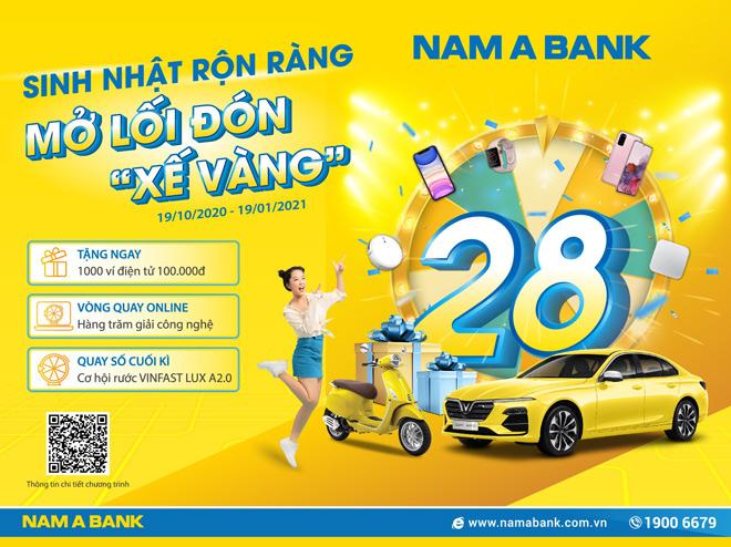 """Rước """"xế vàng"""" cùng ngàn ưu đãi mừng sinh nhật Nam A Bank - 1"""