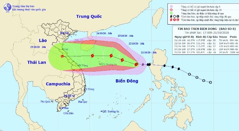 Bão số 8 đang bắt đầu tăng cấp khi hướng về phía quần đảo Hoàng Sa - 1