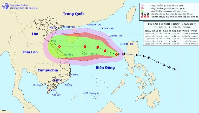 Những điều dị thường của bão số 8 đang hướng vào miền Trung - 1