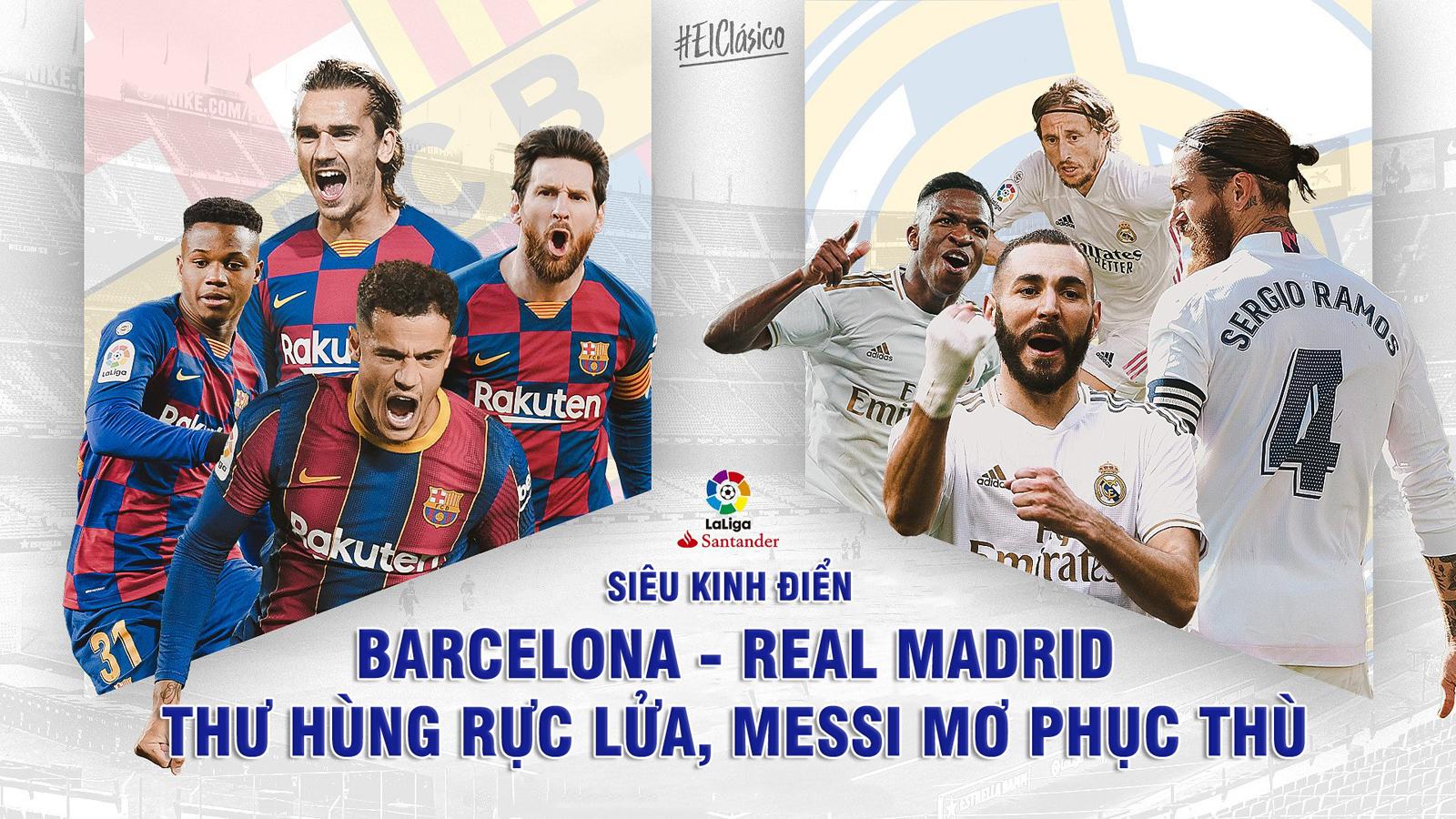 """""""Siêu kinh điển"""" Barcelona – Real Madrid: Thư hùng rực lửa, Messi mơ phục thù - 1"""