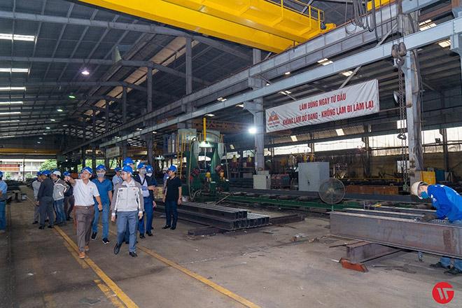 Hiệp hội Kết cấu thép Thắng Lợi tham quan các nhà máy kết cấu thép phía bắc - 1