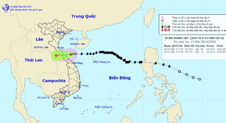 Cập nhật diễn biến của bão số 8 đang trên vùng biển Hà Tĩnh - Quảng Trị - 1