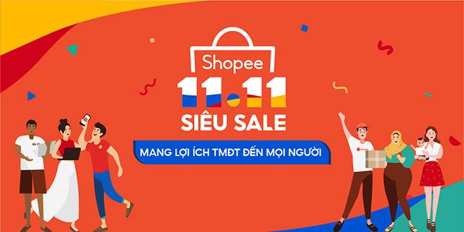 Shopee khởi động sự kiện 11.11 Siêu Sale mang lợi ích TMĐT đến tất cả người dùng - 1
