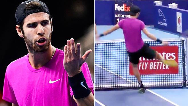 """""""Gã nổi loạn"""" tennis dọa trọng tài """"hết hồn"""" vẫn thản nhiên chơi cả trận - 1"""