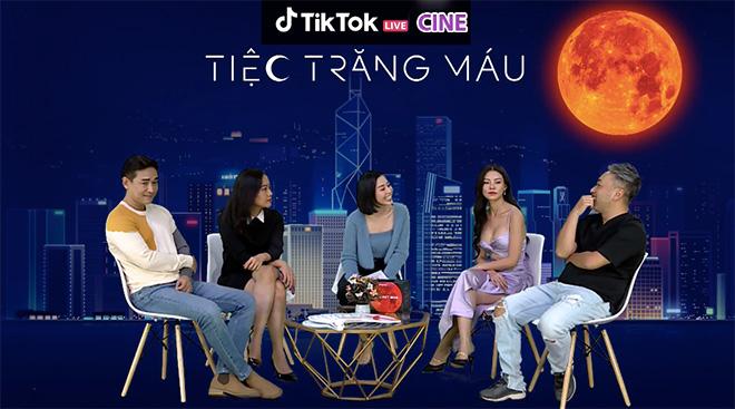 """Đạo diễn, diễn viên Tiệc Trăng Máu chơi thử thách cực """"lầy lội"""" trên livestream của TikTok - 1"""