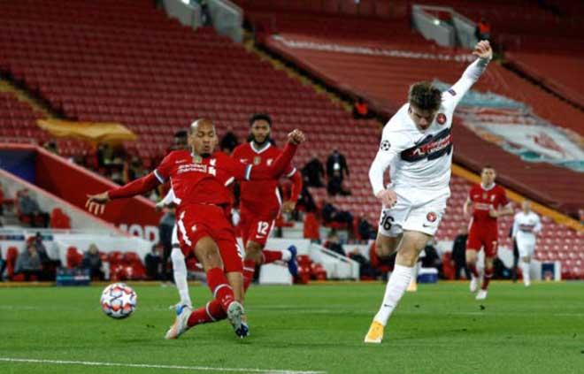Kết quả bóng đá Cúp C1 Liverpool - Midtjylland: Ông lớn chật vật, bước ngoặt bàn thắng thứ 10.000 - 1