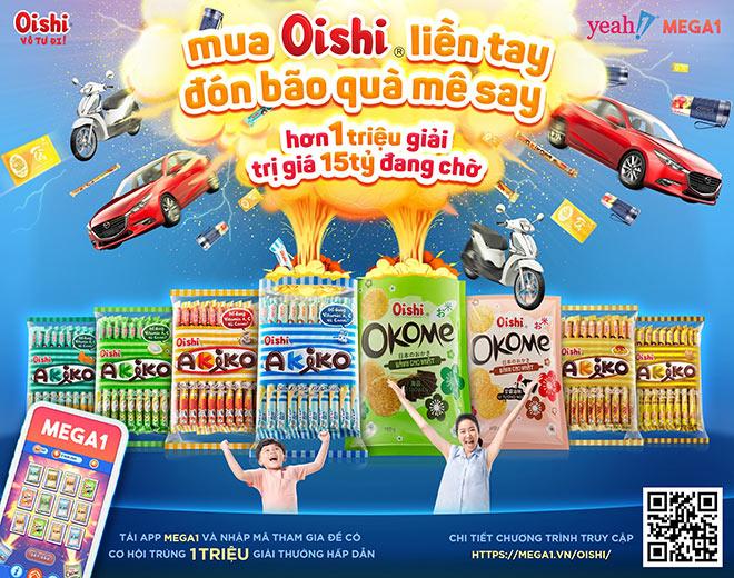 Cơ hội trúng xe hơi và vàng mỗi ngày với khuyến mãi khủng từ Mega1 và Oishi - 1