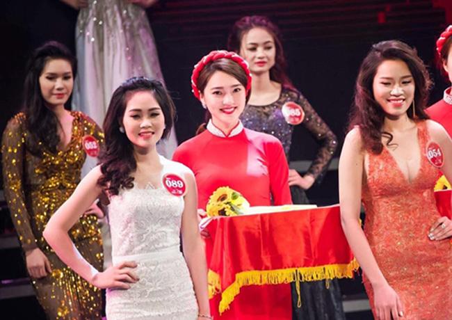 """Nguyễn Ngọc Nữ (sinh năm 1994, Nghệ An) được biết đến lần đầu tiên vào năm 2017 khi làm PG hỗ trợ trao giải cho cuộc thi """"Người đẹp Kinh Bắc 2017""""."""