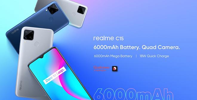 """Trình làng Realme C15 bản mới giá siêu rẻ, pin 6.000 mAh """"khổng lồ"""" - 1"""