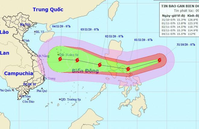 Siêu bão Goni giật trên cấp 17 đang vào Biển Đông - 1