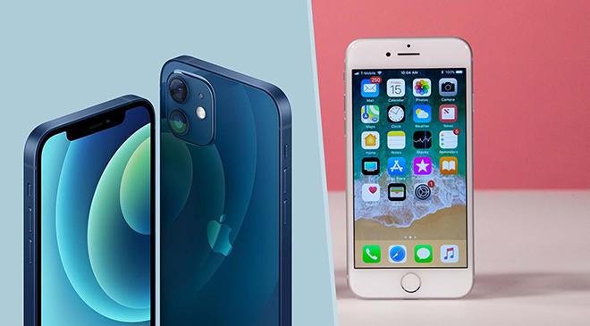 iPhone 12 và iPhone 8: Sau 3 năm, chúng khác nhau những gì? - 1