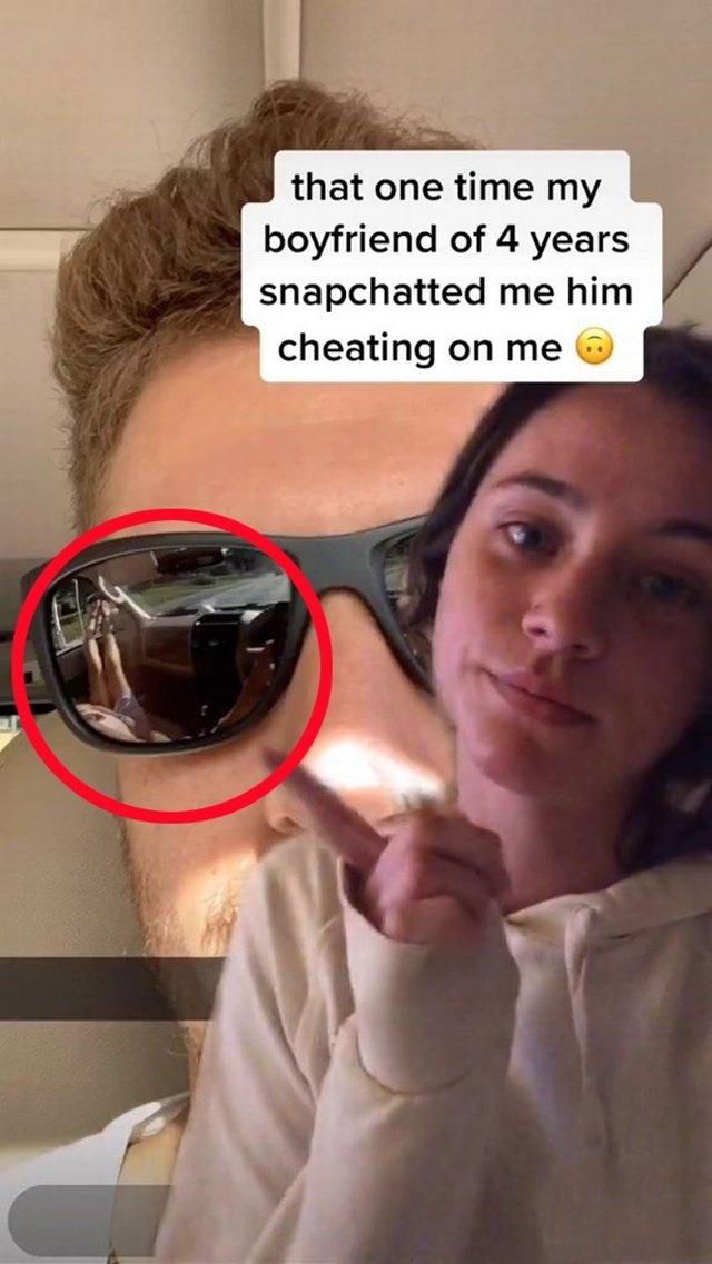 Gửi ảnh tự sướng cho bạn gái, không ngờ chiếc kính râm tố cáo việc ngoại tình - 1