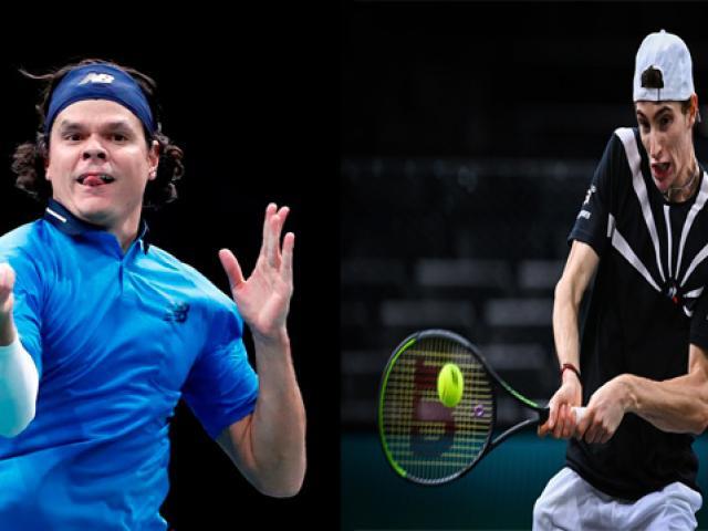 Video tennis Raonic - Humbert: 2 lần thoát thua thần kỳ, nghẹt thở đi tiếp (Tứ kết Paris Masters)