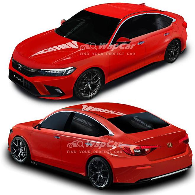 Thêm loạt ảnh render về thiết kế của dòng xe Honda Civic mới - 2