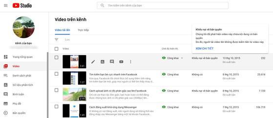 Cách kiểm tra video YouTube của bạn có dính bản quyền không - 1