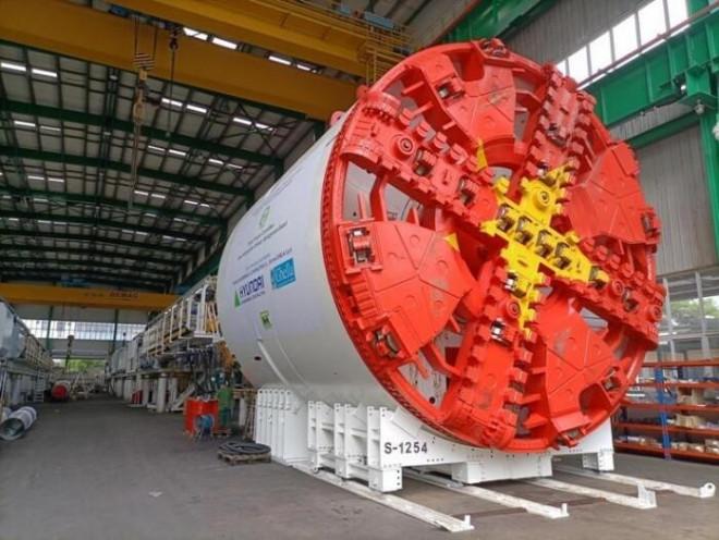 """Đường sắt Nhổn - ga Hà Nội nhận robot đào hầm """"khủng"""", 2 tháng mới lắp xong - 1"""