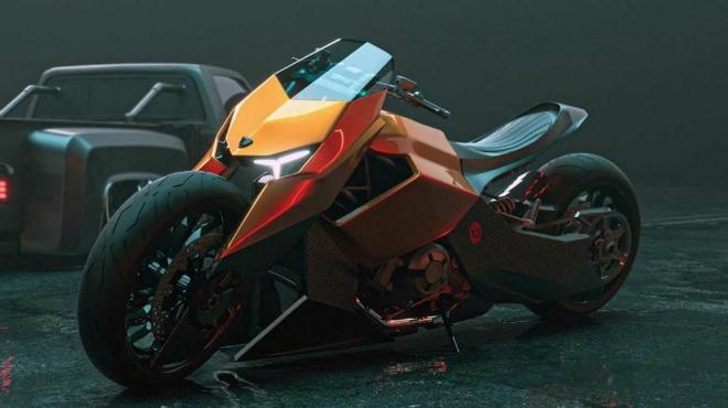 """Môtô Lamborghini trông thế này, Ducati chỉ có """"khóc"""" - 1"""