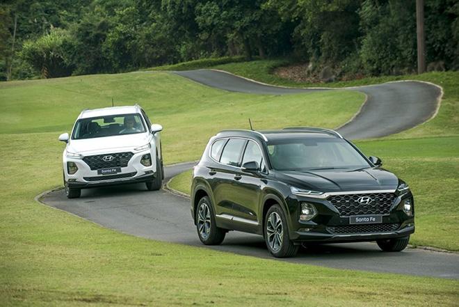 Bảng giá xe Hyundai SantaFe lăn bánh tháng 11/2020 - 1