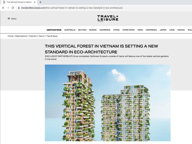 Tạp chí danh tiếng Mỹ dành vị trí trang chủ viết về dự án tòa tháp xanh cao nhất Việt Nam