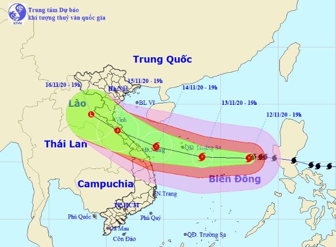 Bão số 13 Vamco sẽ đổ bộ đất liền miền Trung vào thời điểm nào? - 1