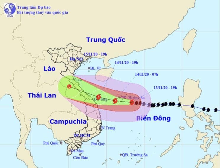 Bão số 13 bất ngờ tăng cấp, gió giật cấp 16 hướng vào Hà Tĩnh - Thừa Thiên Huế - 1