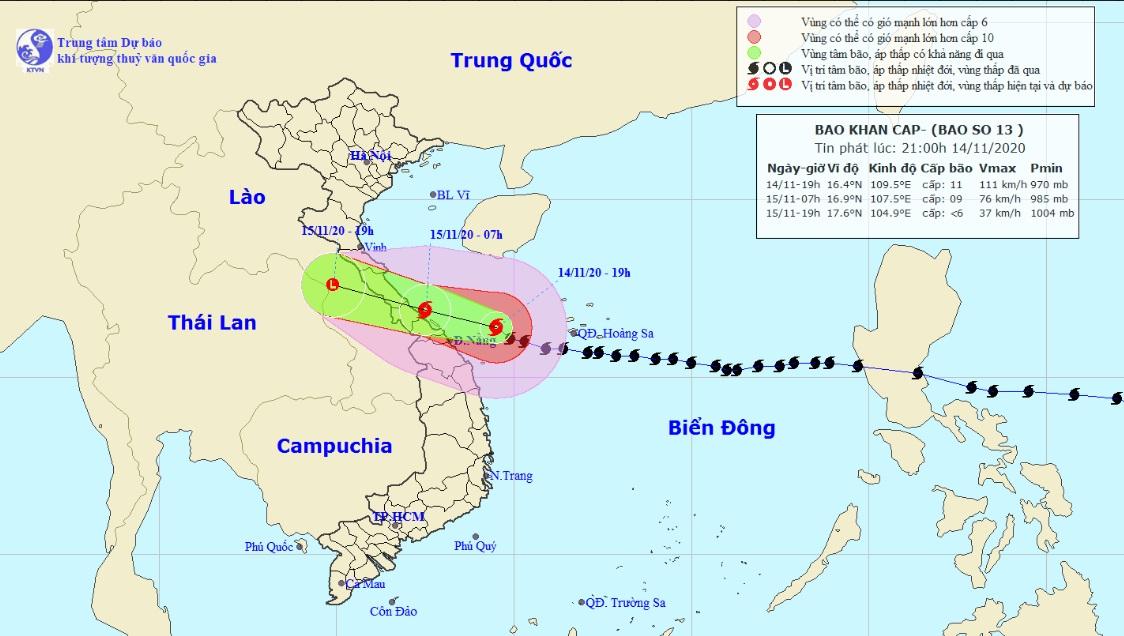 Bão số 13 cách Đà Nẵng - Thừa Thiên Huế 130km, cuồng phong trút xuống trong đêm - 1