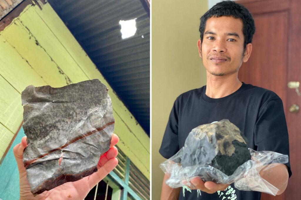 Thiên thạch 2,5 kg đâm thủng mái nhà nổ chói tai, chủ tiệm quan tài thành triệu phú - 1
