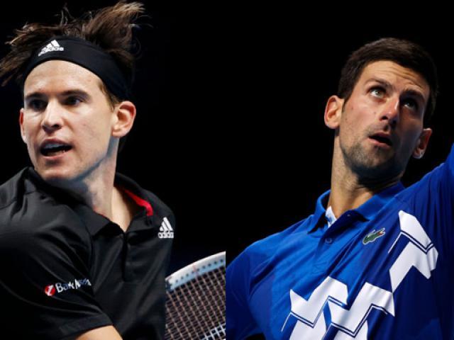 """Thể thao - Video tennis Thiem - Djokovic: """"Đấu súng"""" nghẹt thở, hiên ngang vào chung kết (Bán kết ATP Finals)"""