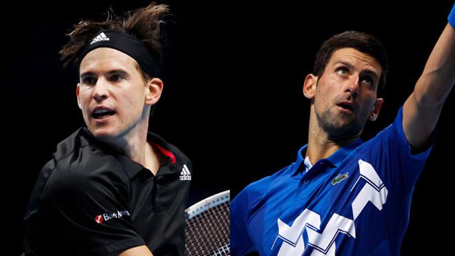 """Video tennis Thiem - Djokovic: """"Đấu súng"""" nghẹt thở, hiên ngang vào chung kết (Bán kết ATP Finals) - 1"""