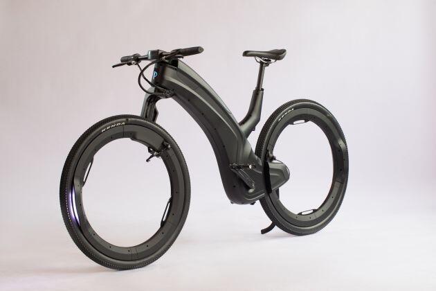 Ra mắt xe đạp điện có bánh xe không nan hoa - 1