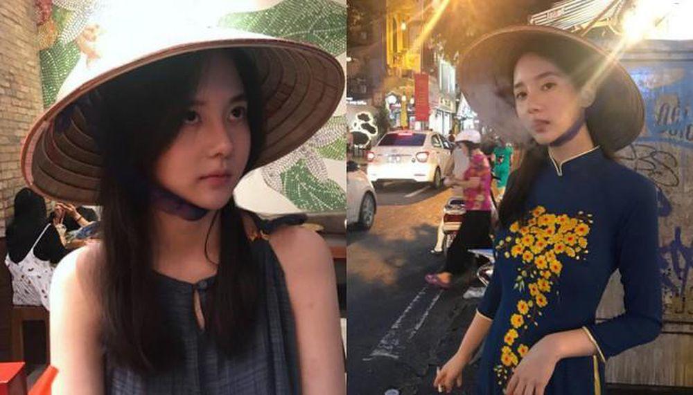 """""""Thần Vệ nữ béo xứ Hàn"""" diện áo dài Việt Nam nhảy sexy để lộ nội y sau lớp vải mỏng - 3"""
