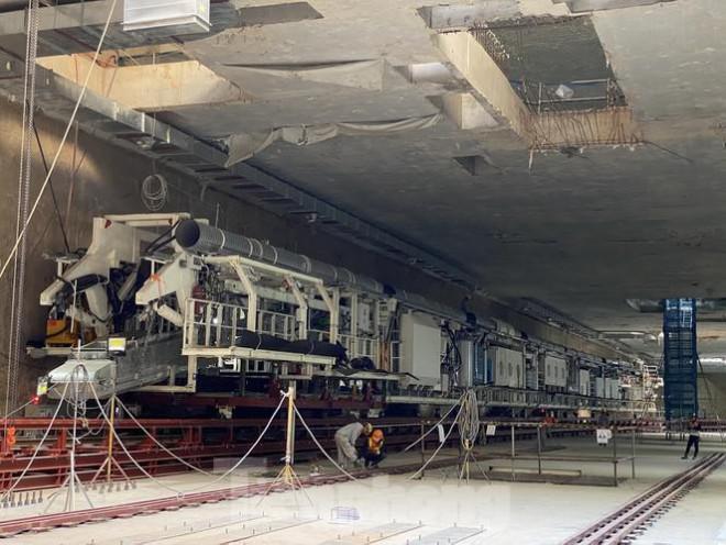 Cận cảnh lắp ráp robot đào hầm 'khủng' nặng 850 tấn thi công Metro Nhổn - ga Hà Nội - 1
