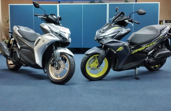 Ảnh thực tế 2021 Yamaha Aerox 155 VVA Connected mới ra mắt - 1