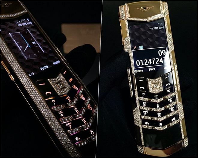 """""""Vén màn"""" bộ đôi điện thoại Vertu độc nhất thế giới có giá 2,5 tỷ đồng tại Kỳ Lân Luxury - 1"""