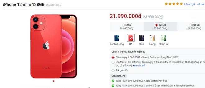 """Vừa được """"lên kệ"""", iPhone 12, iPhone 12 Mini liên tục bị giảm giá - 1"""