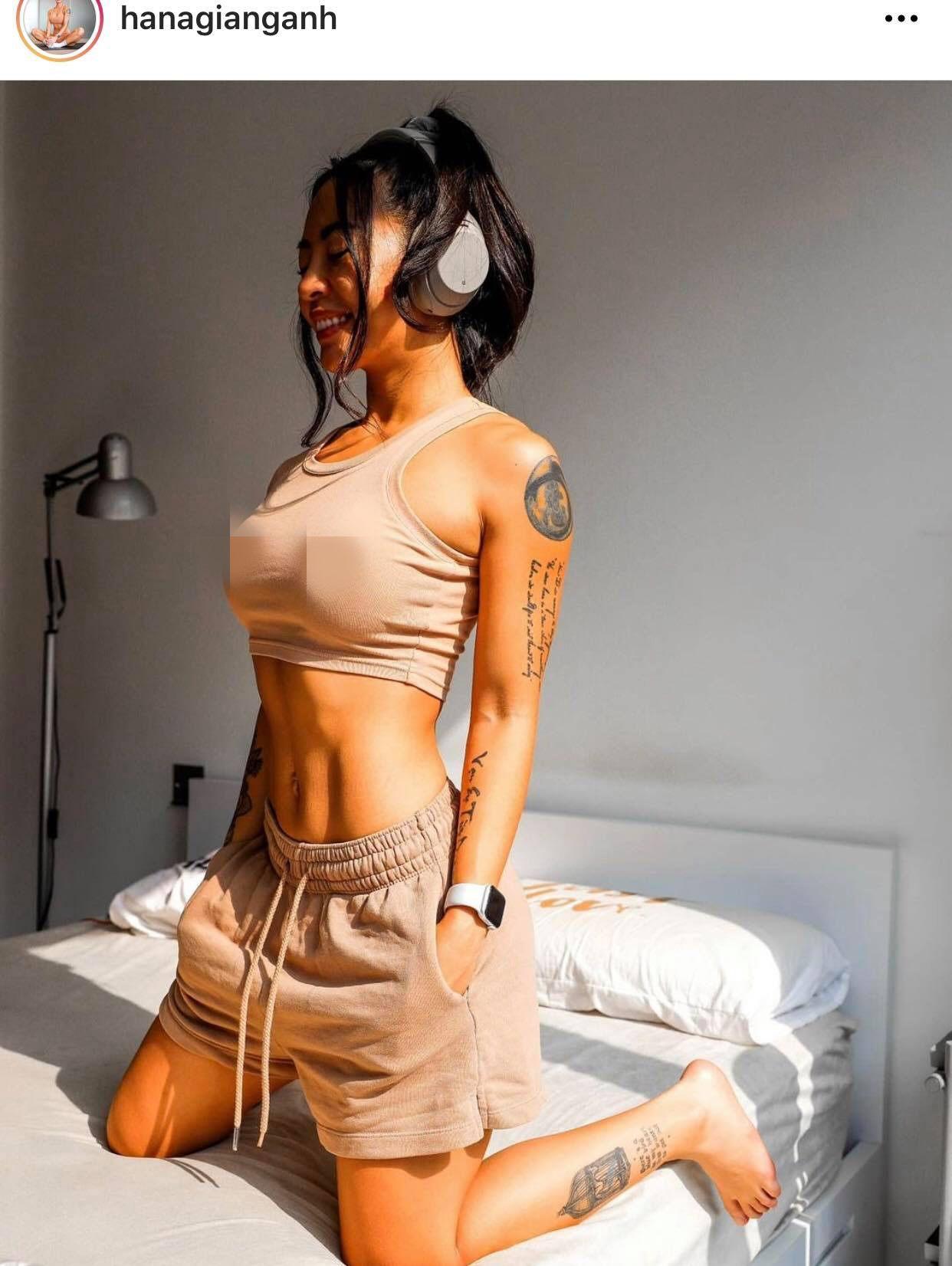 """""""Nữ hoàng phòng gym Hà thành"""" bị phản ứng vì """"thả rông"""" với áo chật, mỏng - 1"""