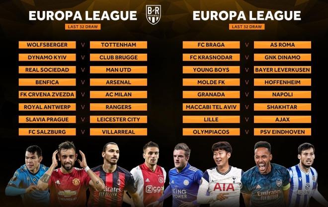 Bốc thăm Europa League: MU đấu Real Sociedad, Tottenham gặp may - 1