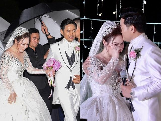 Đời sống Showbiz - Vợ doanh nhân của Quý Bình bật khóc nói điều này ngay trên sân khấu đám cưới