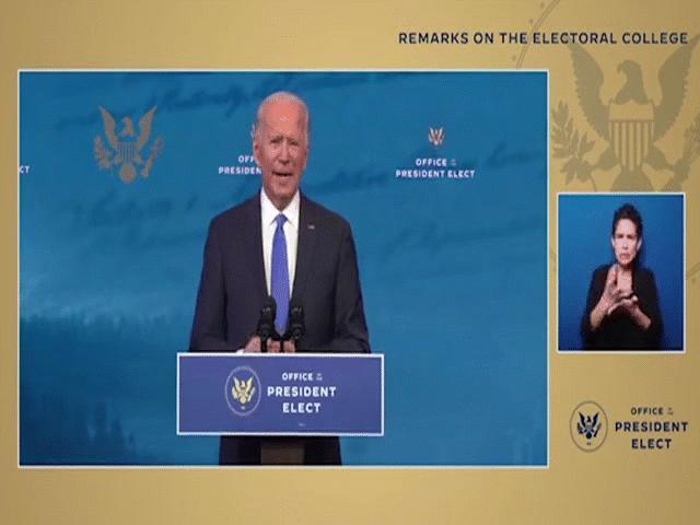 Biểu hiện của ông Biden khi phát biểu khiến nhiều người lo lắng